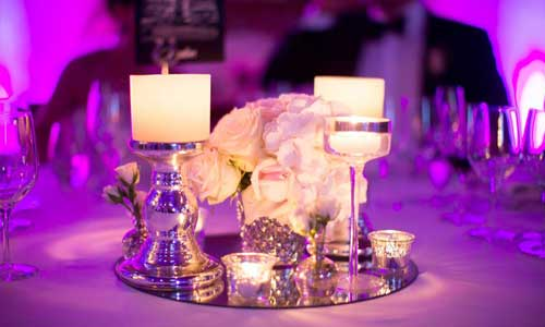 Decoración de bodas, centro de mesas para novias 02 | La Floreria