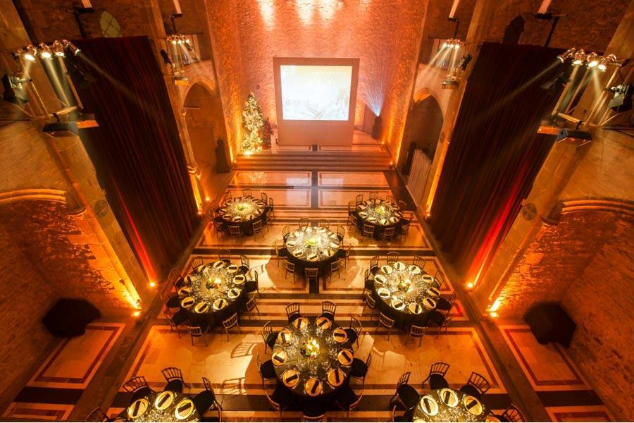 Decoración evento de empresa cena de Navidad de Coty | La Florería