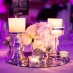 Diseño y creación de centro de mesa clásico en plata para cena | La Florería