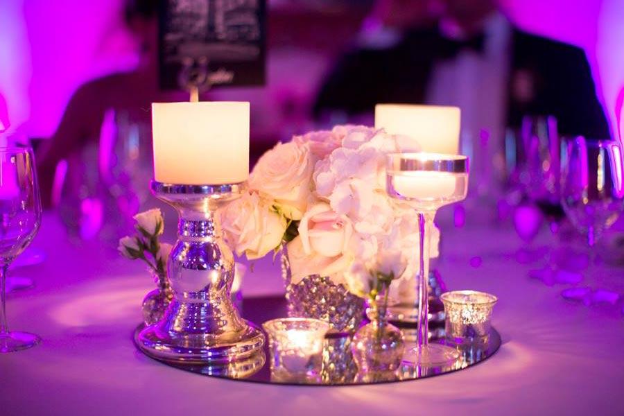 Centro de mesa clásico en plata
