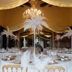 Diseño y creación de centro centro de mesa Gran Gastby en la Baronía 00 |La Florería