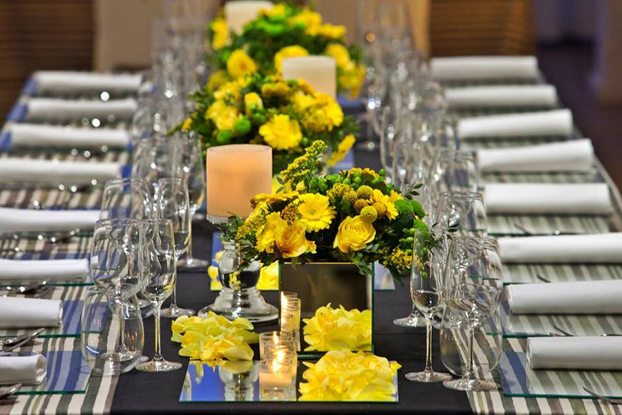 Diseño y creación de centro de mesa Imperial lima limón | La Florería