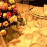 Diseño y creación de centro de mesa estilo inglés para cena en Barcelona | La Florería