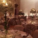 Centro de Candelabro romántico para cena en el Convent de Blanes | La Florería