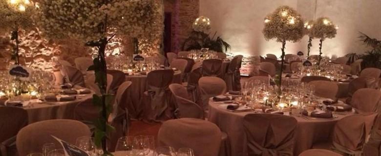 Centro de Candelabro romántico