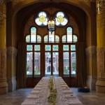 Centro de mesa imperial de lineas minimal por la Florería | La Florería
