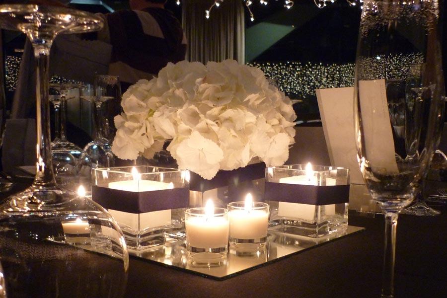 Centro de mesa minimal y sofisticado para boda en Barcelona | La Florería