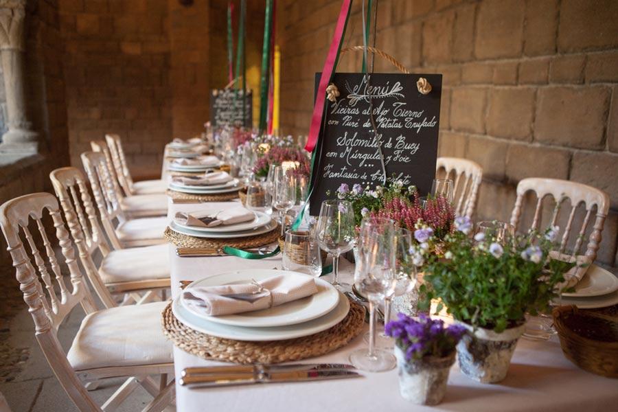 Diseño y creación de centro de mesa imperial campestre | La Florería