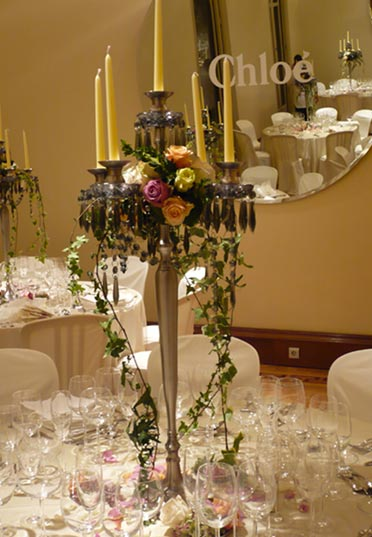 Centro de mesa inspiración francesa para evento de Chloé | La Florería