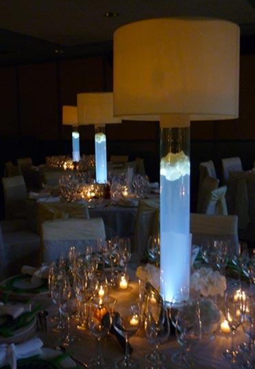 Centro de mesa con luz