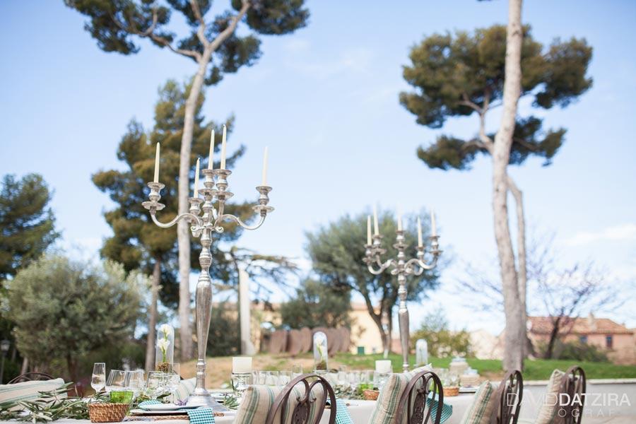 Centro de mesa para  boda en jardín