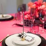 Detalle centro de mesa con inspiración Burlesque en Barcelona | La Florería
