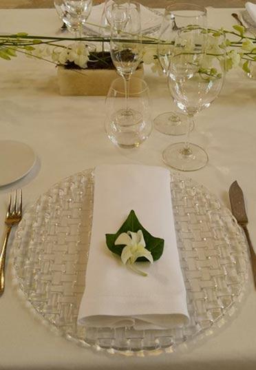 Centro de mesa para cena exclusiva