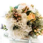 Diseño y creación de ramo de novia soft peach para ceremonia 02 | La Florería
