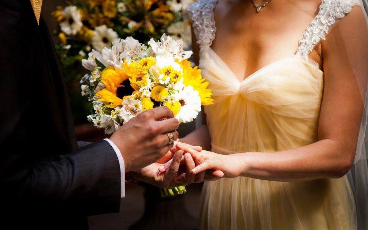 Ramo de novia bouquet amarillo para ceremonia en Barcelona 03 | La Florería