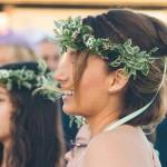 Corona de flores campestre para dama de honor y novia 00 |La Florería