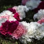 Collar de flores, jaimala, inspiración Hindú con claveles de colores 01 | La Florería