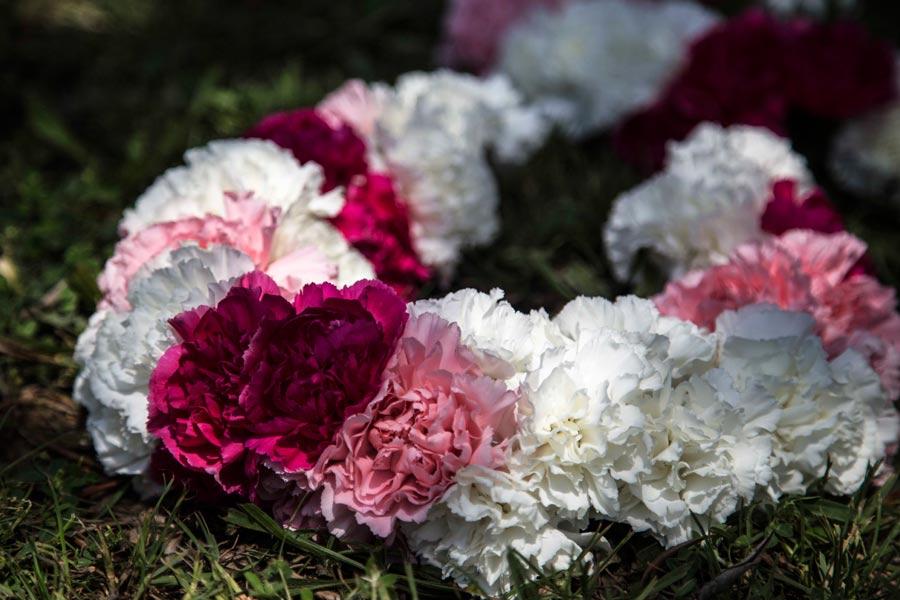 Collar de flores inspiración Hindú.