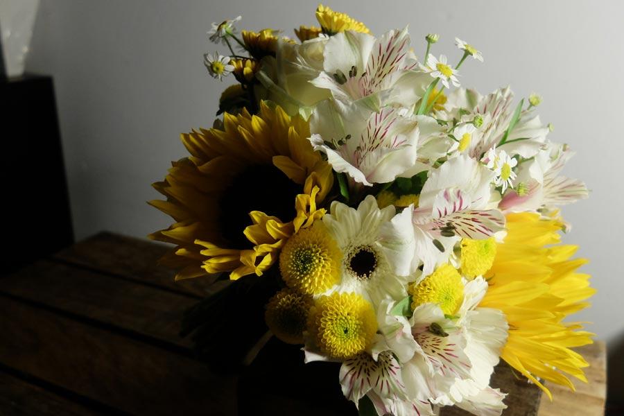 Ramo de novia bouquet<br> en tonos amarillos