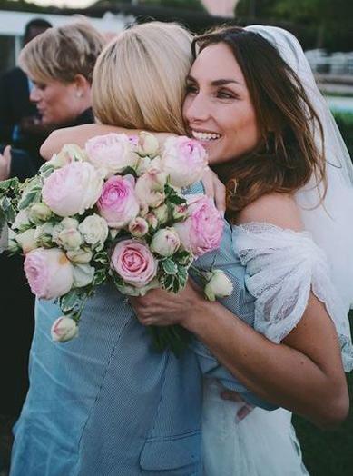 Ramo de novia con<br>rosas inglesas