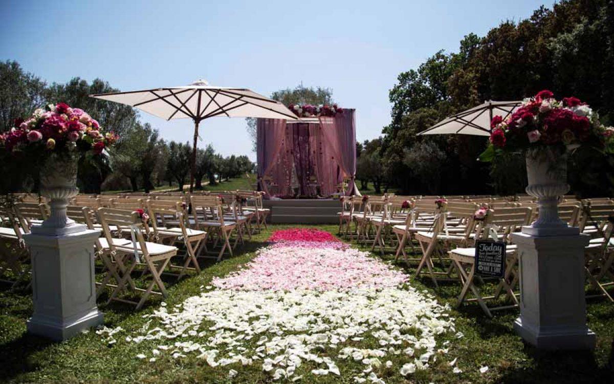 Diseño y decoración de ceremonia Hindú en Barcelona 03 |La Florería