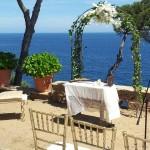 Ceremonia Civil en el Convent de Blanes con vistas al mar | La Florería