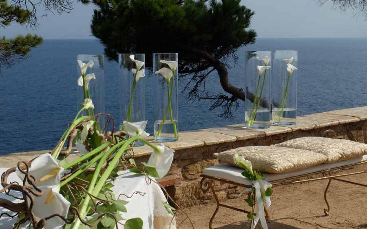 Ceremonia Civil en el Convent de Blanes con vistas al mar 04 | La Florería