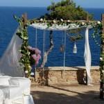 Decoración ceremonia en Convent de Blanes 01 |La Florería
