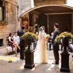 Decoración de ceremonia civil en palacio barroco de Barcelona 08 |La Florería