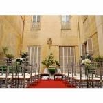 Decoración de ceremonia civil en palacio barroco de Barcelona 00 |La Florería