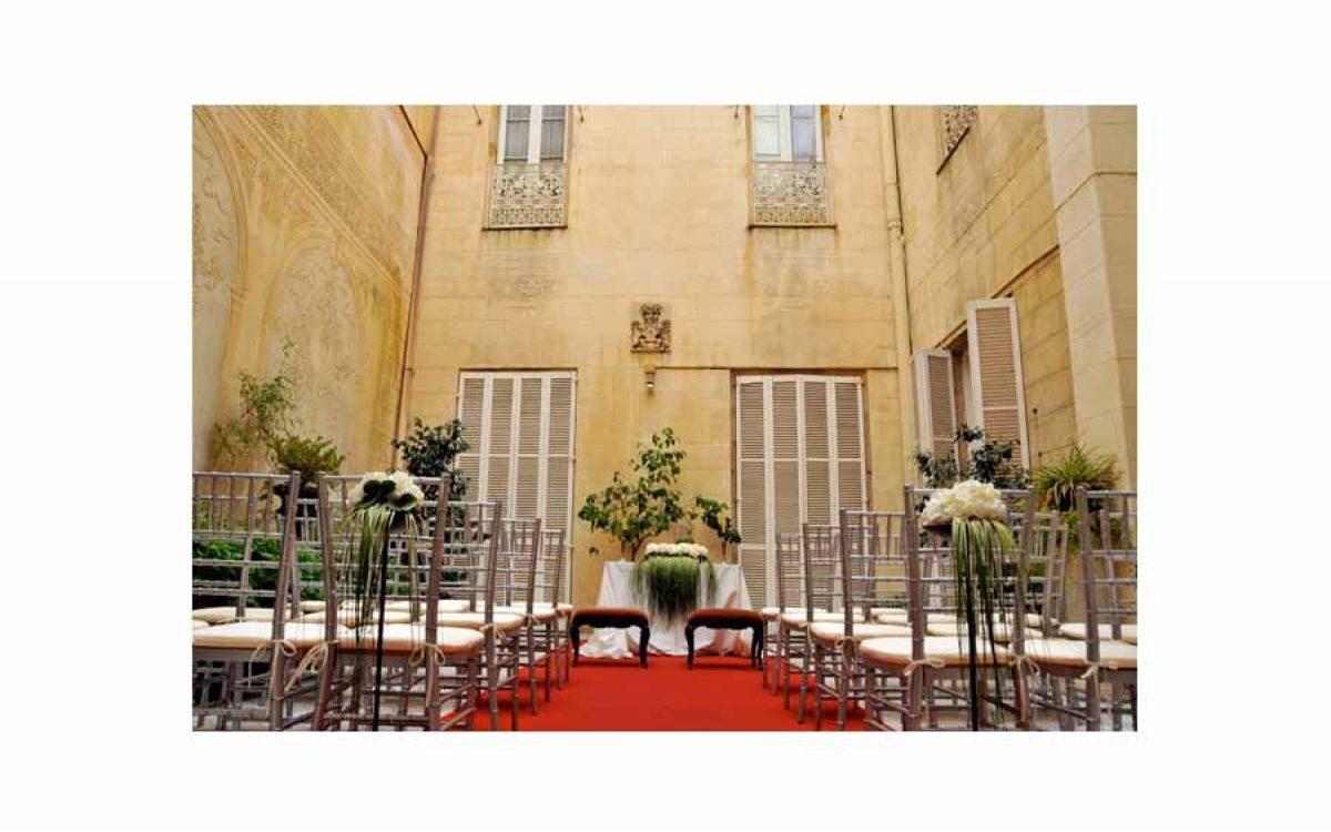 Decoración de ceremonia civil en palacio barroco de Barcelona 04 |La Florería