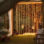 Diseño y creación de decoración de ceremonia con altar exterior iluminado |La Florería
