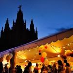 decoración e iluminación con guirnaldas para una Boda en el Tibidabo 00 | La Florería