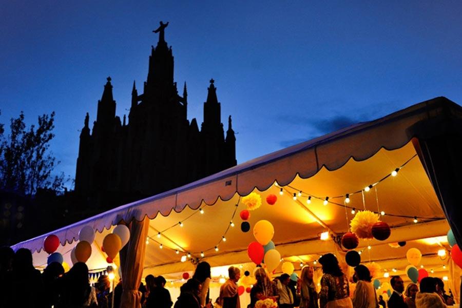 Decoración e iluminación para Boda en el Tibidabo