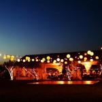 Decoración e iluminación exterior para boda en Jardín de Barcelona 00 | La Florería