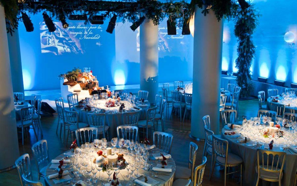 Casa Batlló decorada por la Florería para cena Navidad Coty Prestige 00 | La Florería