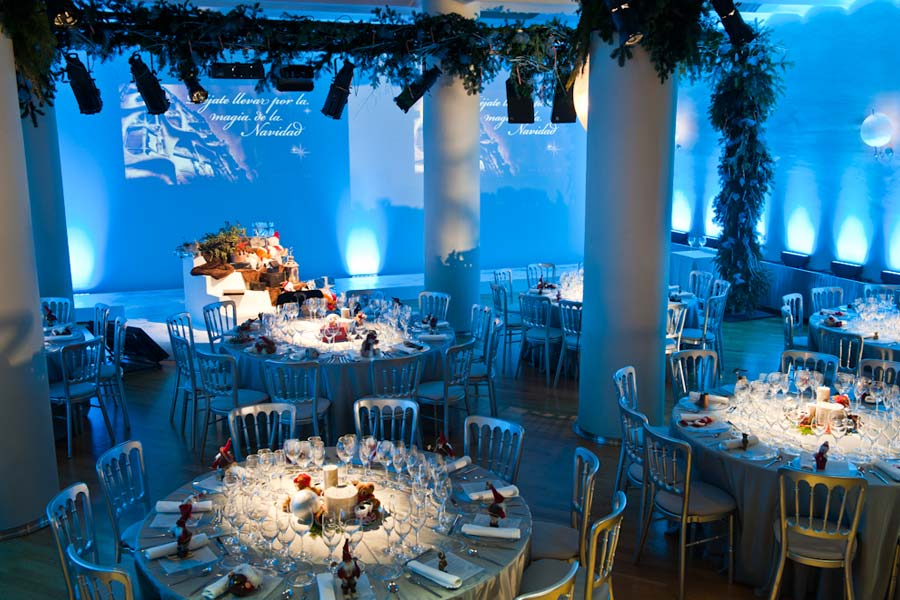 Decoración Cena Navidad <br>Coty Prestige en Casa Batlló
