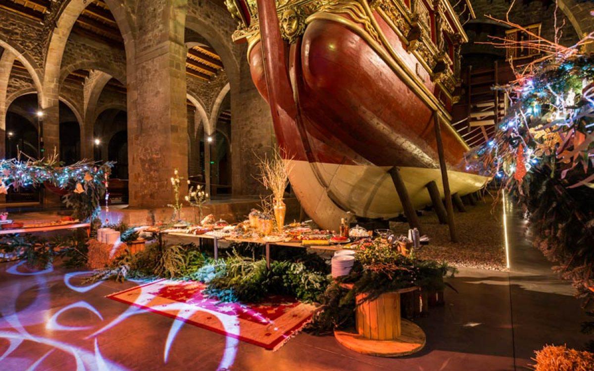 Museu Maritim Cena de Navidad de Coty Prestige en sala Teatro de Barcelona 44 | La Florería