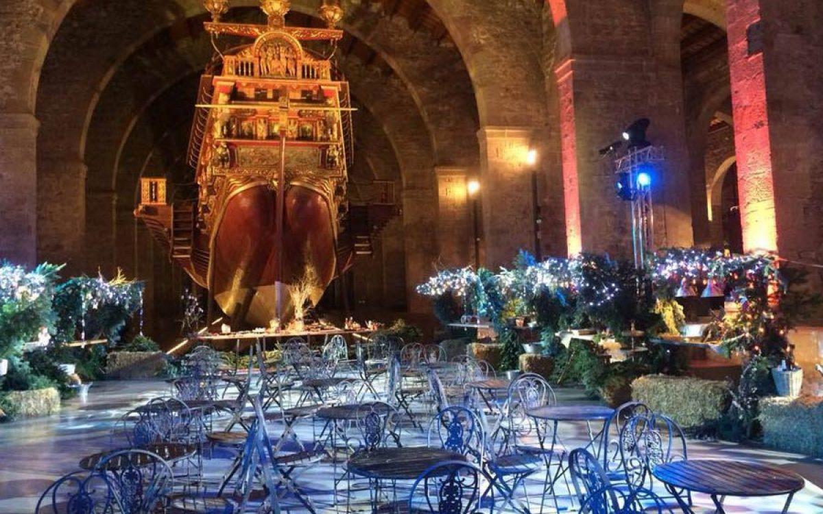Museu Maritim Cena de Navidad de Coty Prestige en sala Teatro de Barcelona 32 | La Florería