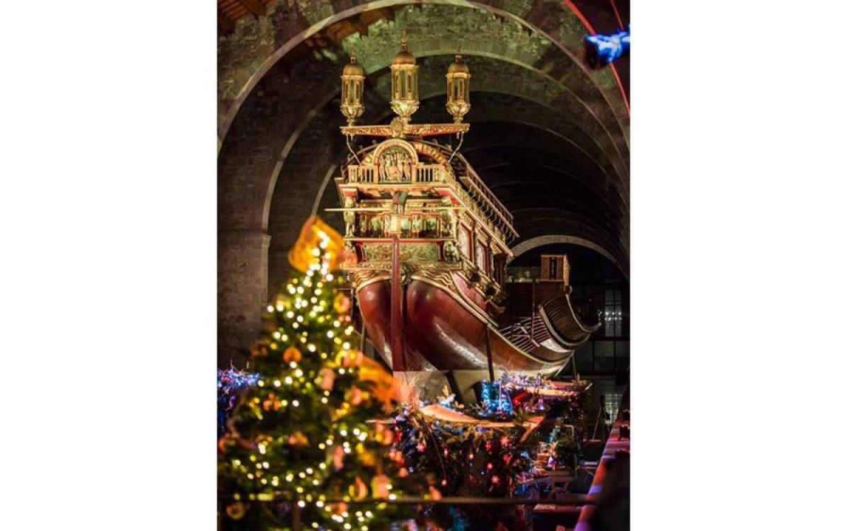 Museu Maritim Cena de Navidad de Coty Prestige en sala Teatro de Barcelona 11 | La Florería