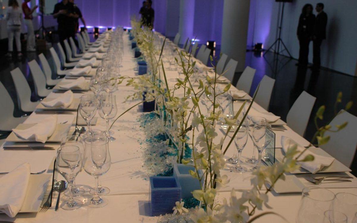 Decoración y puesta de escena de evento Iceberg en Macba 12 |La Florería