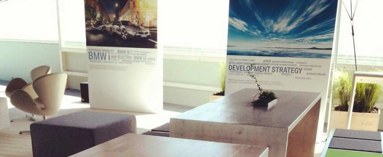 Decoración evento BMW