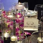 Decoración evento de empresa de la cena de gala Infiniti Fórmula 1 01 | La Florería
