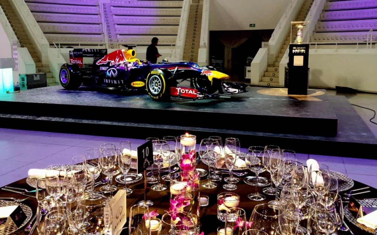 Decoración evento de empresa de la cena de gala Infiniti Fórmula 1 09 | La Florería