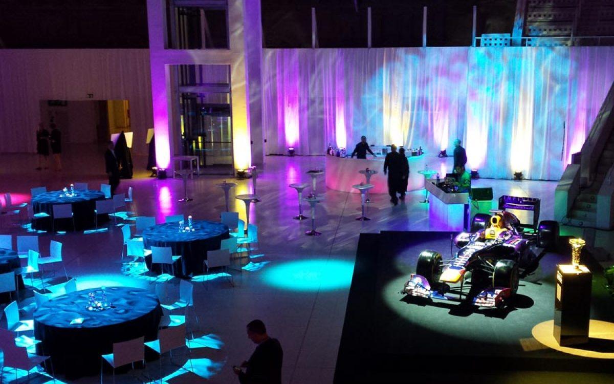 Decoración evento de empresa de la cena de gala Infiniti Fórmula 1 08 | La Florería