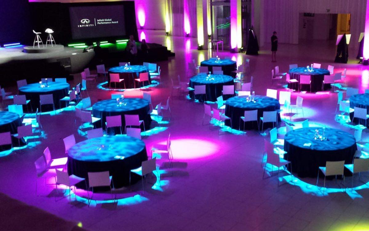 Decoración evento de empresa de la cena de gala Infiniti Fórmula 1 03 | La Florería