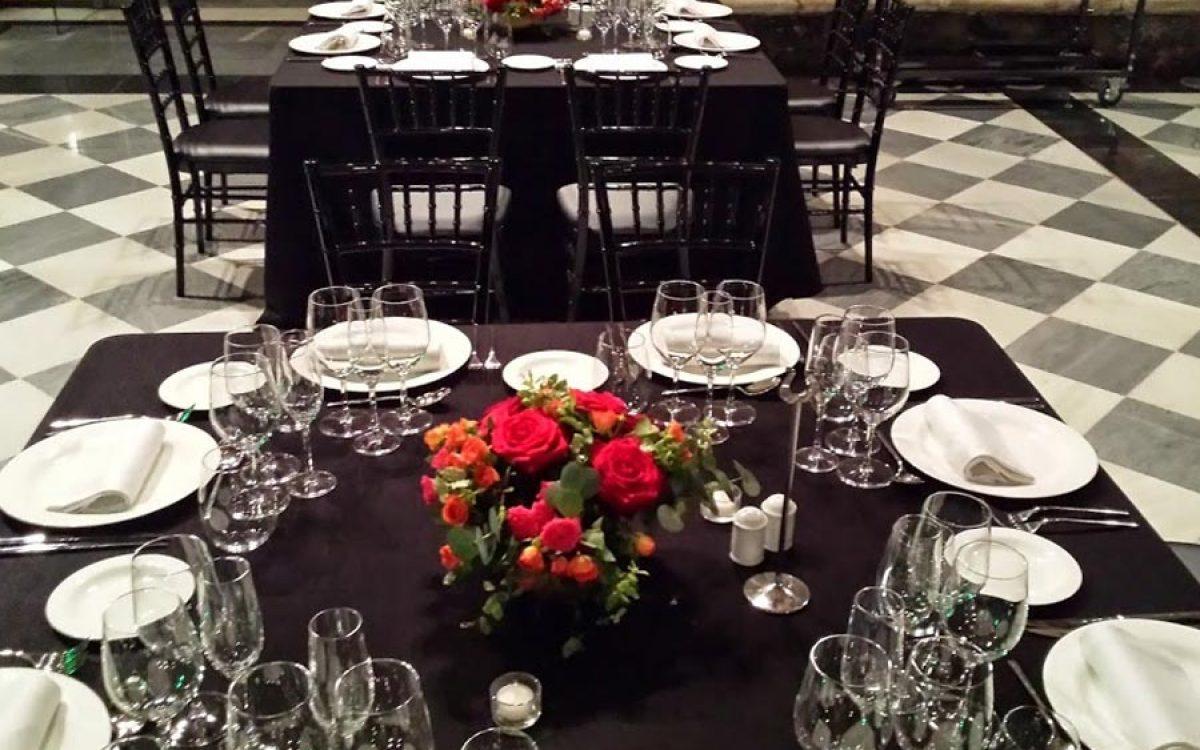 Decoración de mesas para cena de gala en La Llotja Barcelona 06 | La Florería