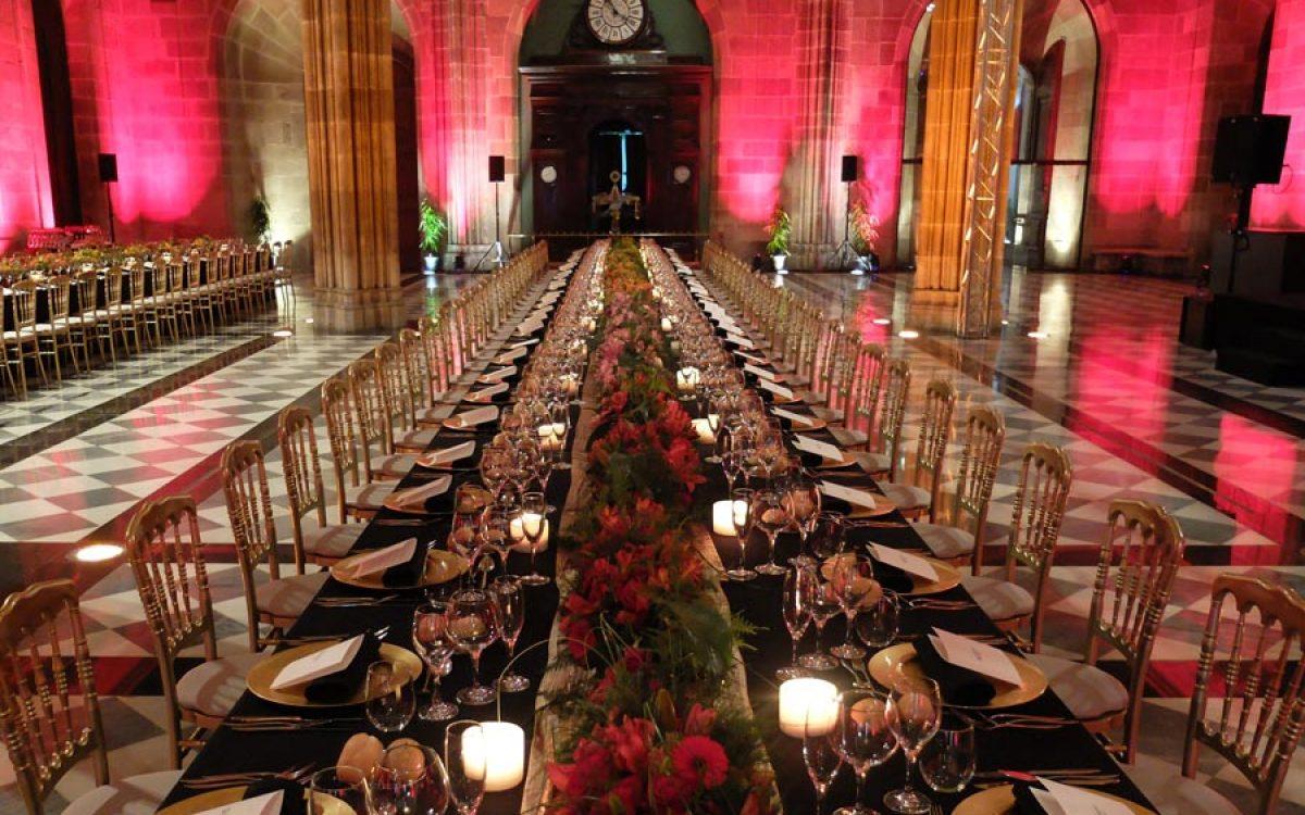 Decoración y puesta en escena de cena de empresa en la Llotja 00 | La Florería
