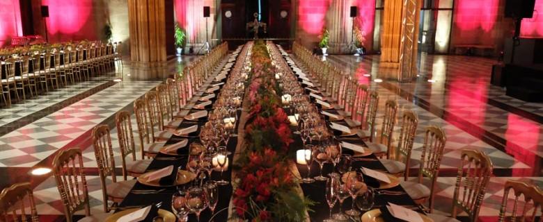 Decoración cena de empresa <br>en La Llotja