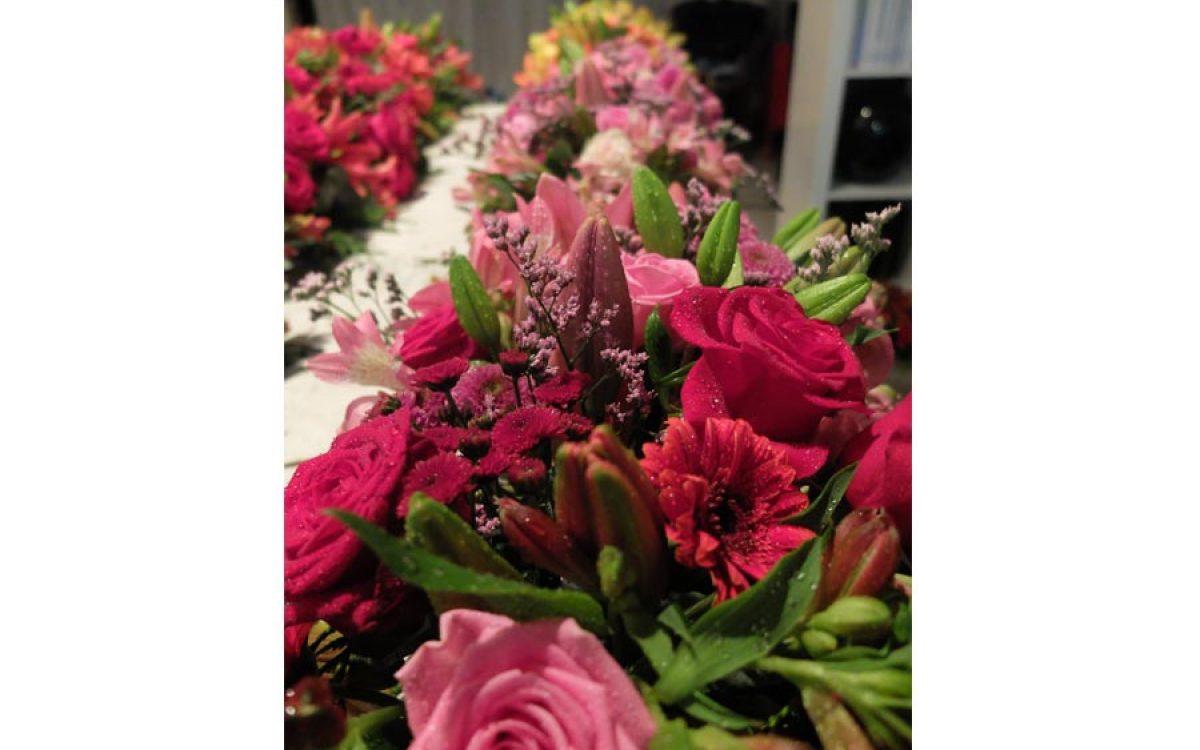 Decoración y puesta en escena de cena de empresa en la Llotja 12 | La Florería